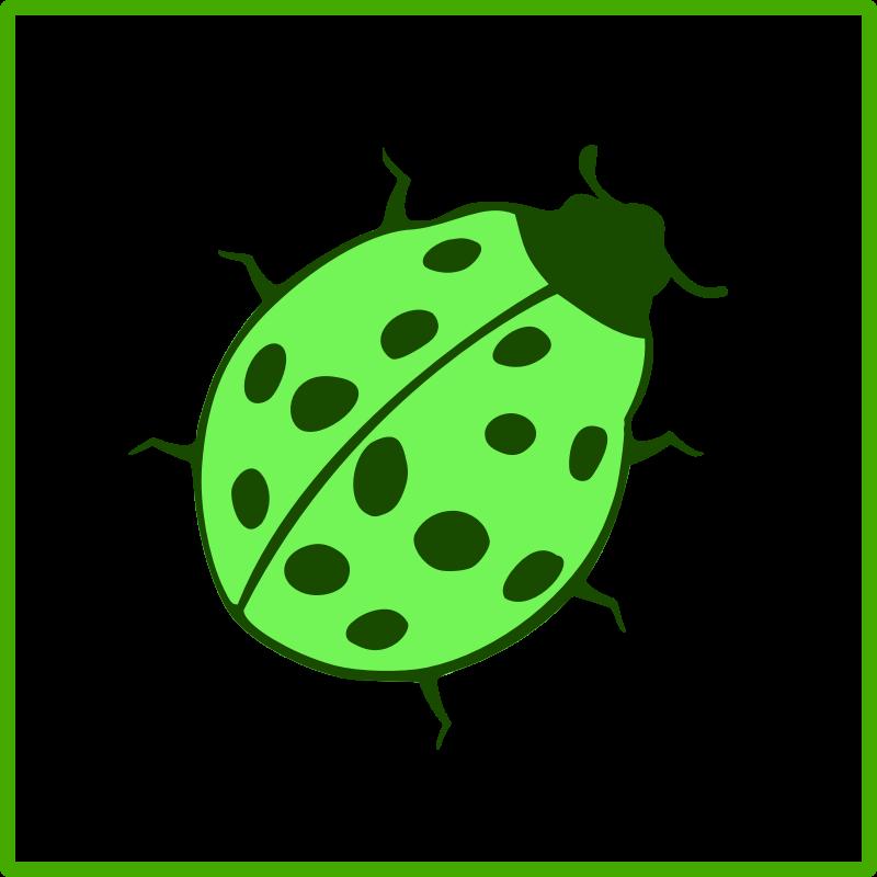 green ladybug clipart - photo #43