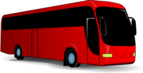 Red Travel Bus clip art - vector clip art online, royalty free ...