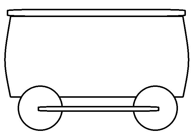Train Car Clip Art Black And
