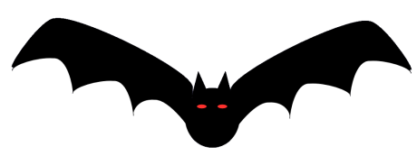 Scary black cat pictures for Animated flying bat decoration