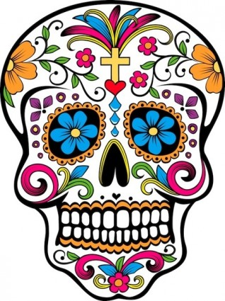 Day of the dead skull Free vector for free download (about 3 files).