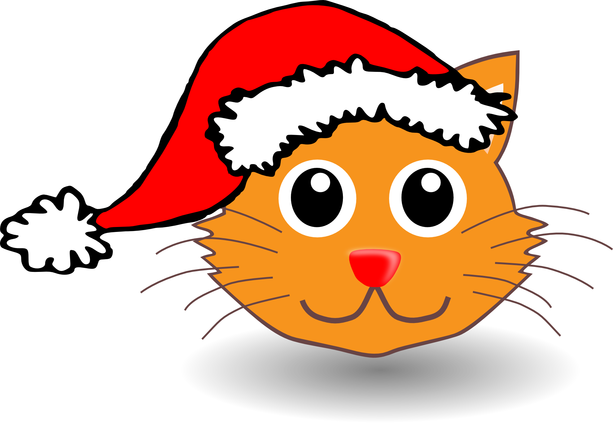 Xmas Stuff For > Christmas Cat Cartoon