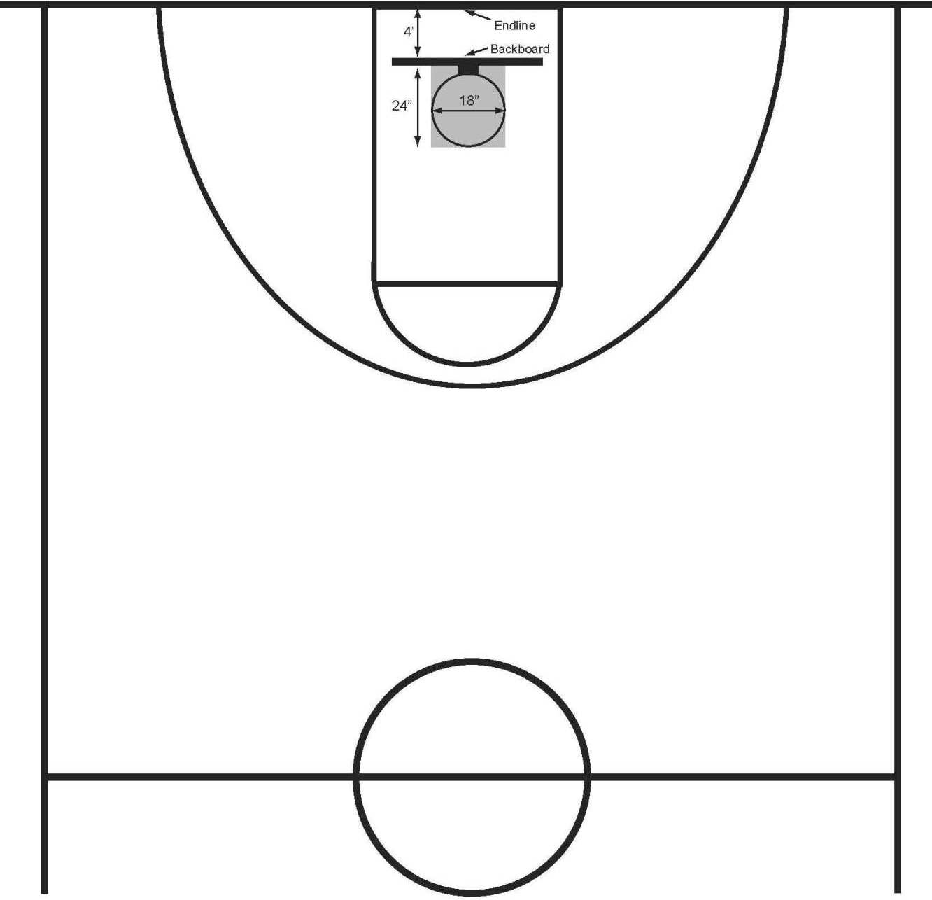 Basketball half court diagram - ClipArt Best - ClipArt Best