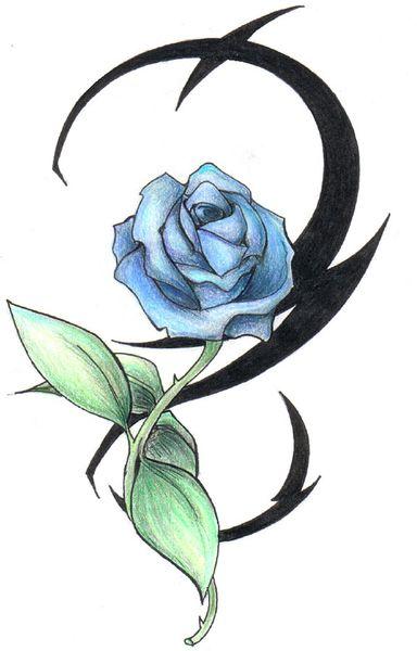 Long stem rose tattoos for Long stem rose tattoo