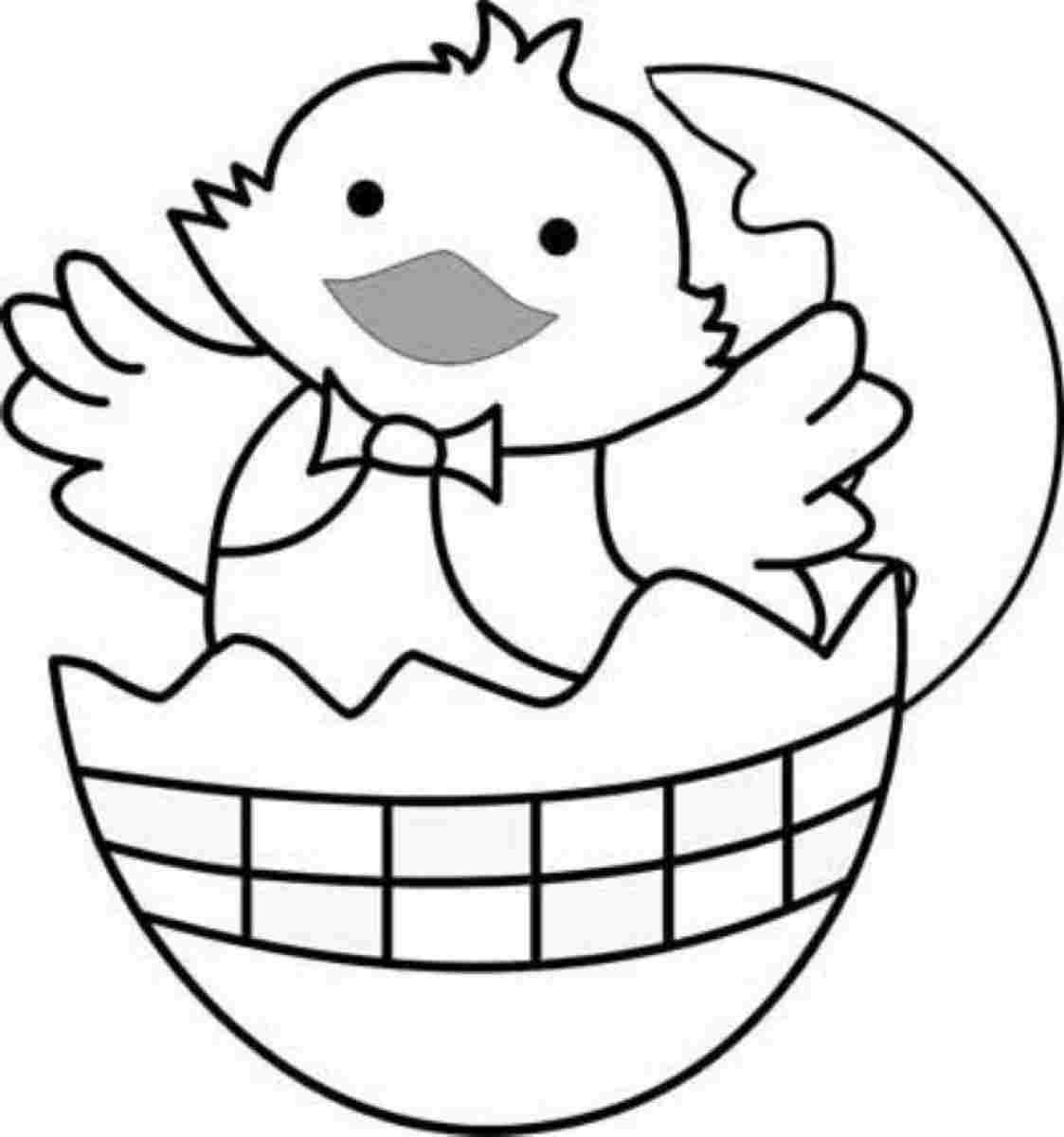 easter chick coloring sheets easter chick coloring page