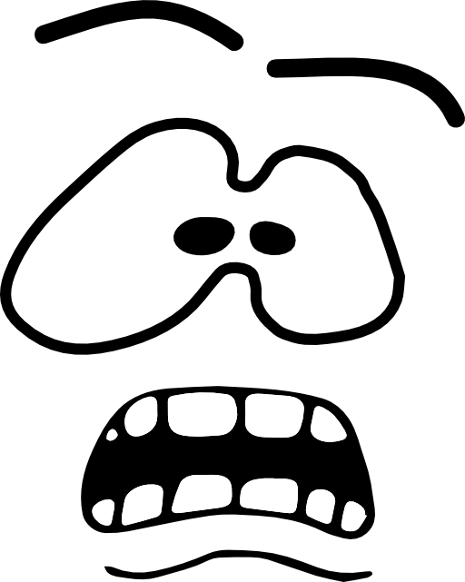 Scared Face Line Drawing : Scared face clip art cliparts
