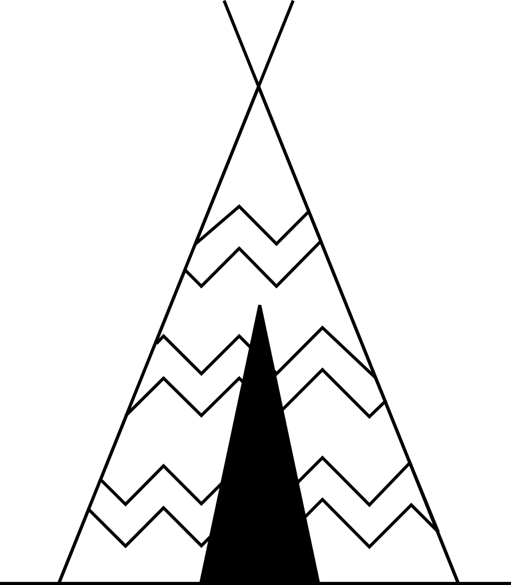 Coloring Page Pictures Of Teepee Tents