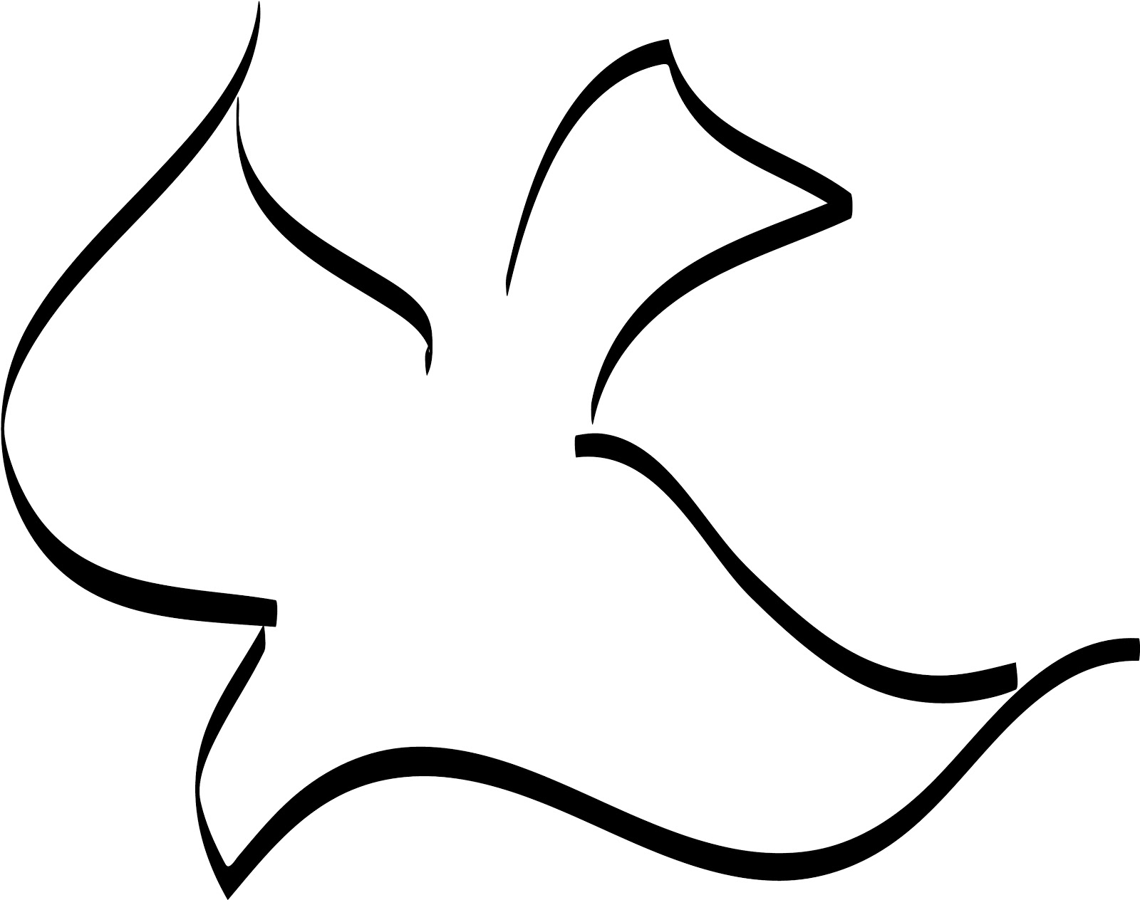 Images For > Simple Dove Outline