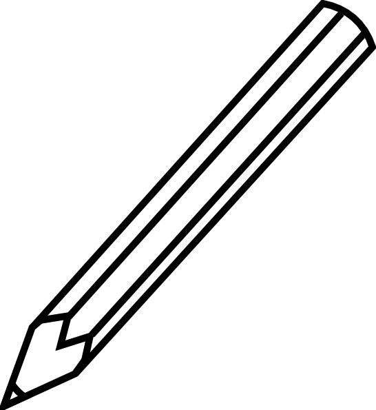 Pencil Clip Art Black And White | Clipart Panda - Free Clipart Images