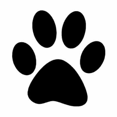 Dog Paw Print Stencil - Cliparts.co