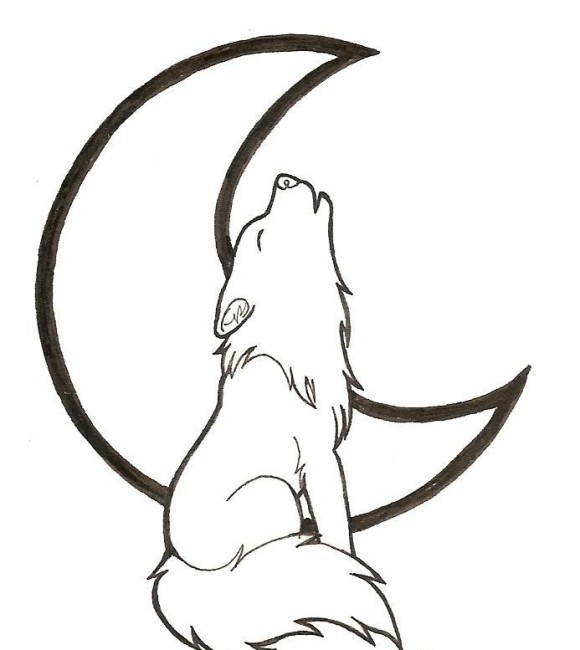 Howling Wolf Cartoon - Cliparts.co