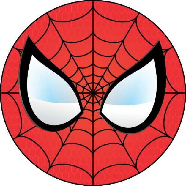 Spiderman face logo - photo#1