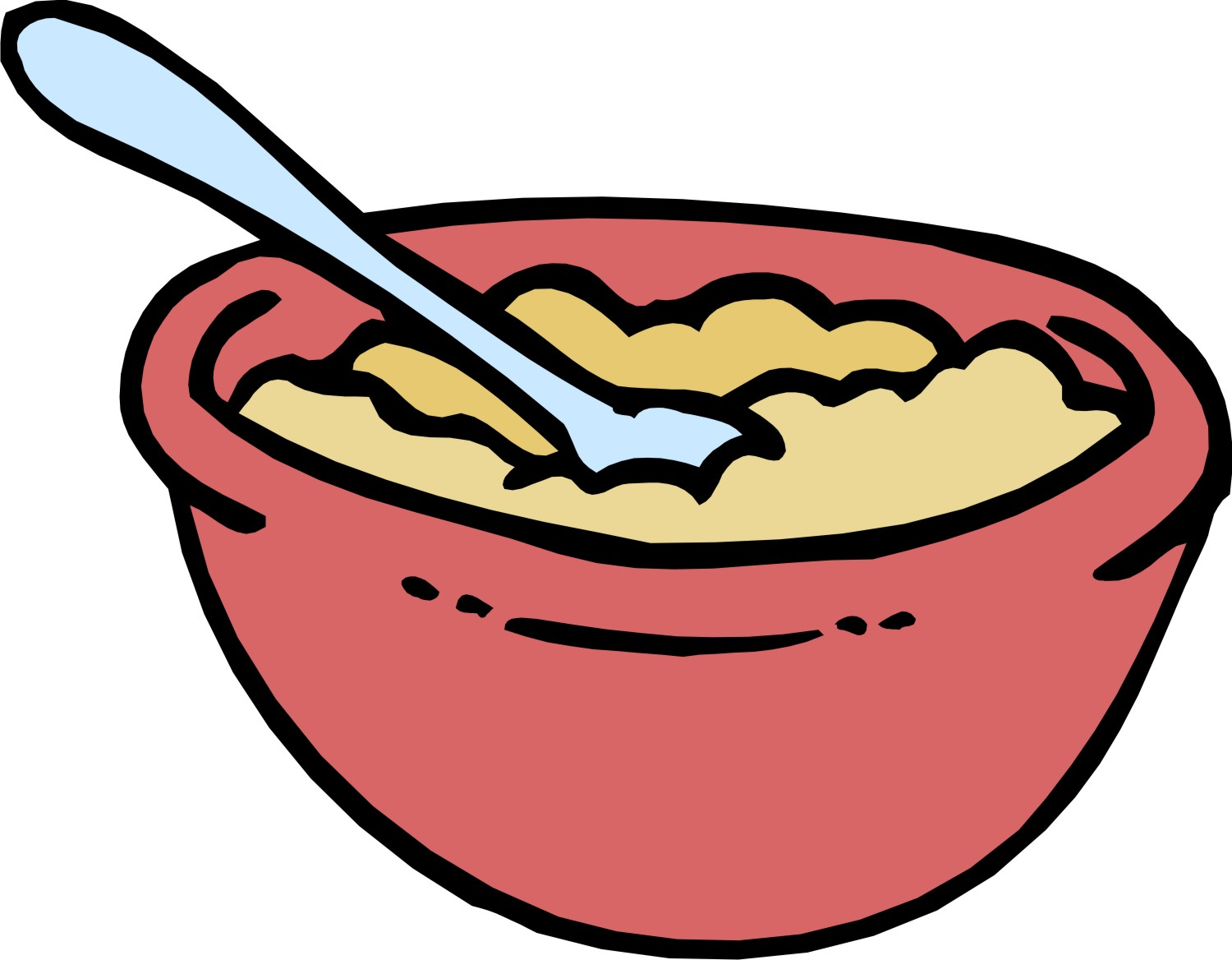 Cartoon Cereal Bowl - Cliparts.co