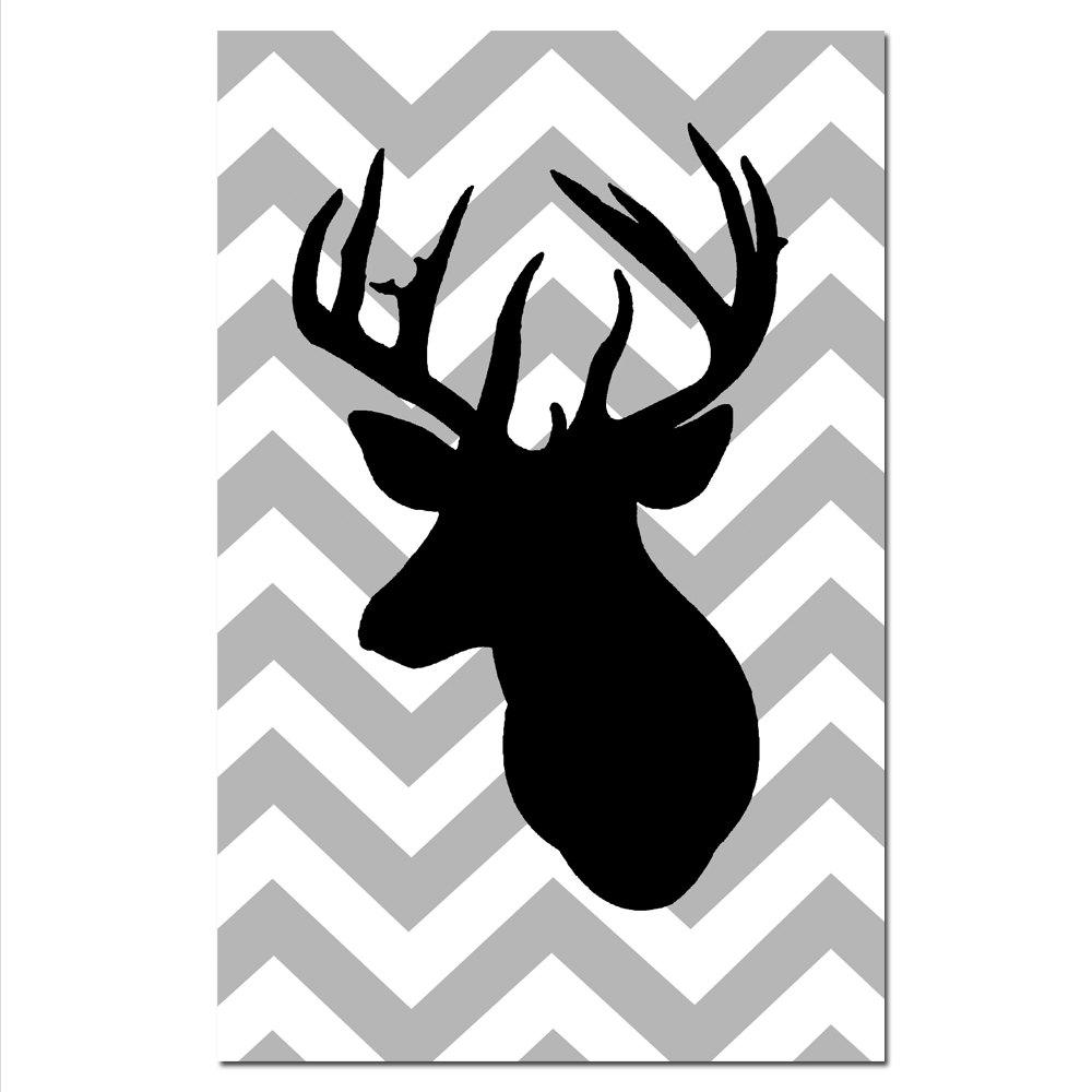 It is an image of Clean Printable Deer Head Silhouette
