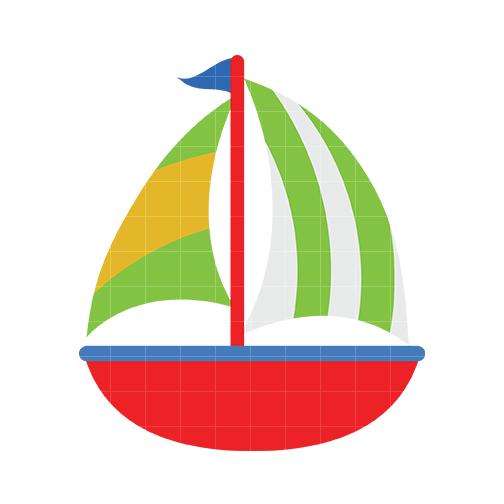 Sailboat 3 Clip Art - Quarter Clipart