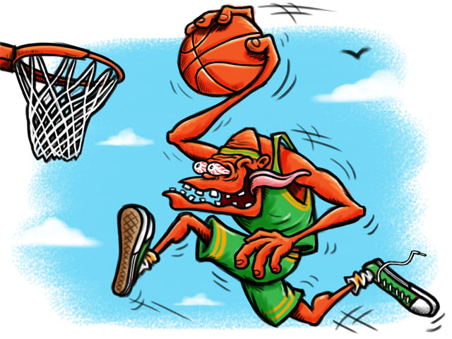 Cartoon Characters Playing Basketball : Basketball cartoon characters cliparts
