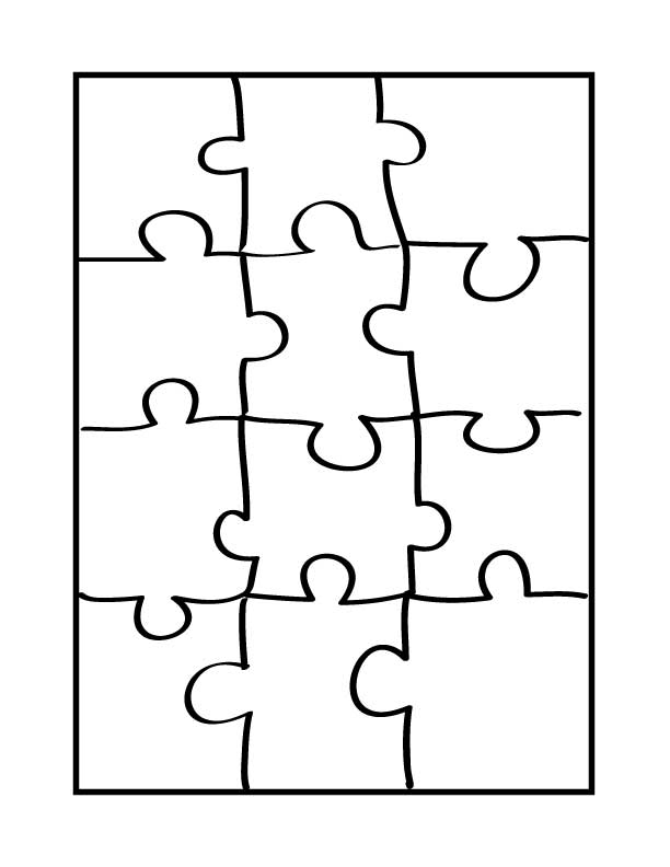 large puzzle piece template clipartsco With giant puzzle template