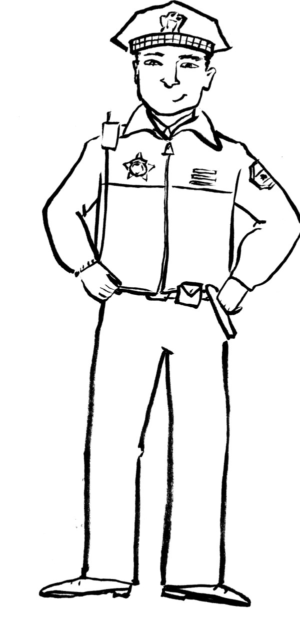 Printables Policeman Grasp Waist Coloring Pages - Police Coloring ...
