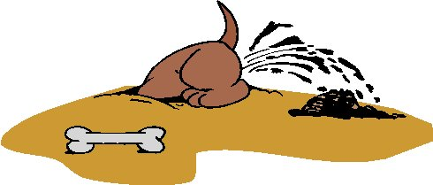 Free Clipart Dog Digging