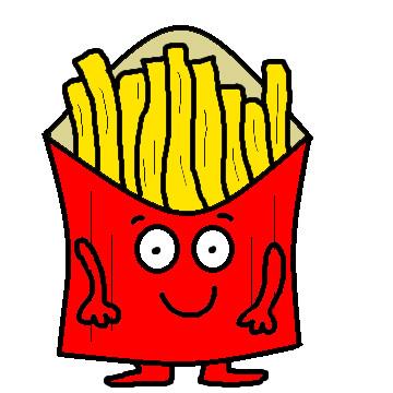 cartoon fries clipartsco