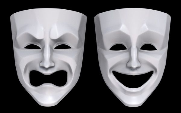 drama masks | Pursuit of Happiness Assignment | Pinterest