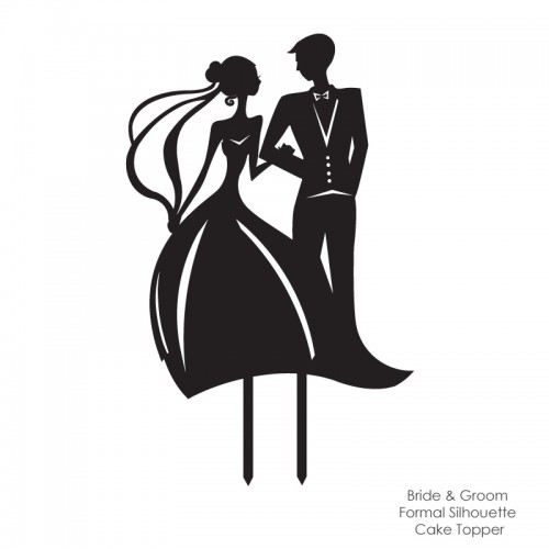Illustration Wedding Cake Topper