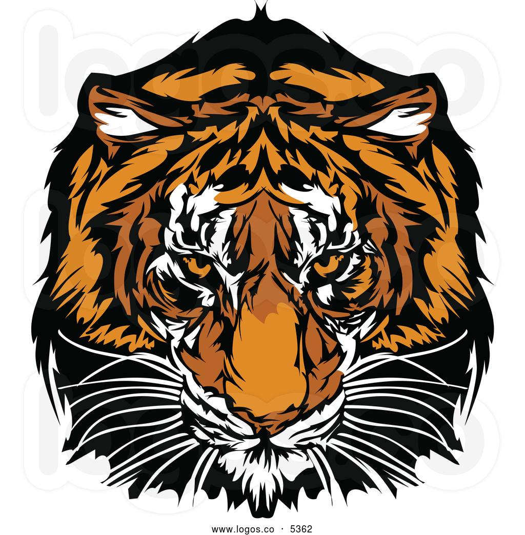 royalty-free-vector-of-a-logo-of-a-tiger-staring-by-chromaco-5362 ...
