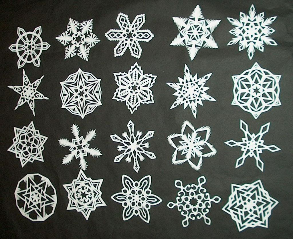 how to make 6 pointed paper snowflakes