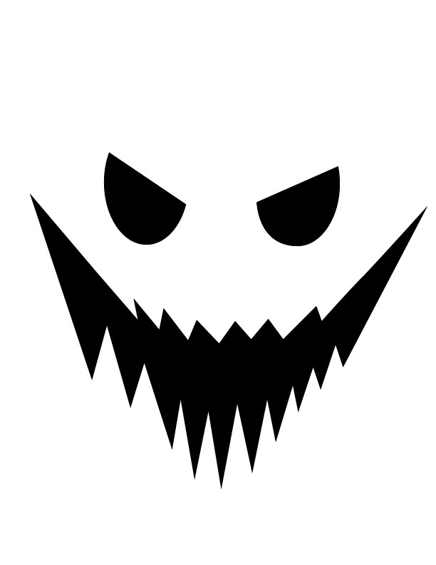 Ghost Face Template Colouring Pages
