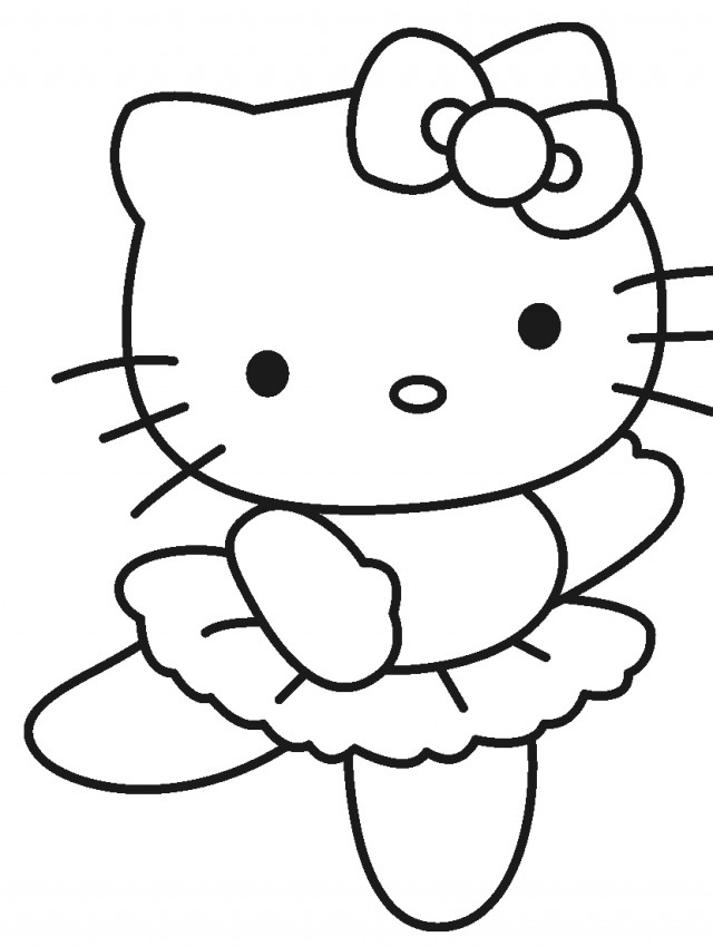 Free Hello Kitty Ballerina Coloring Pages