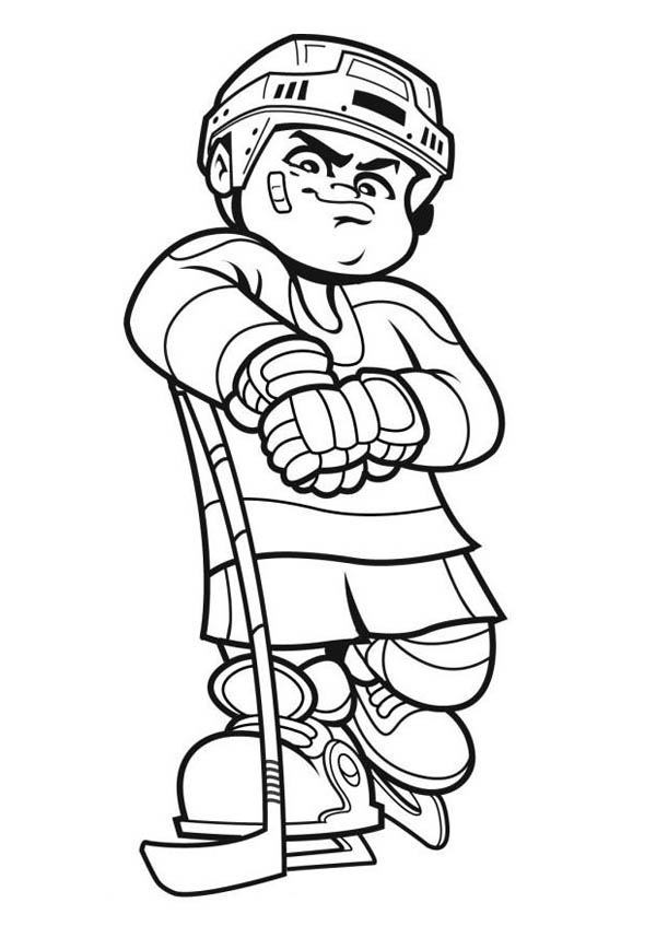 Hockey Players coloring page | Free Printable Coloring Pages | 847x600