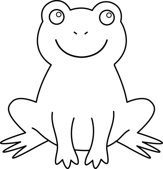 Frog Clipart Black And White - Cliparts.co