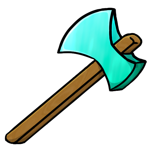 Minecraft Diamond Axe Icon, PNG ClipArt Image | IconBug ...