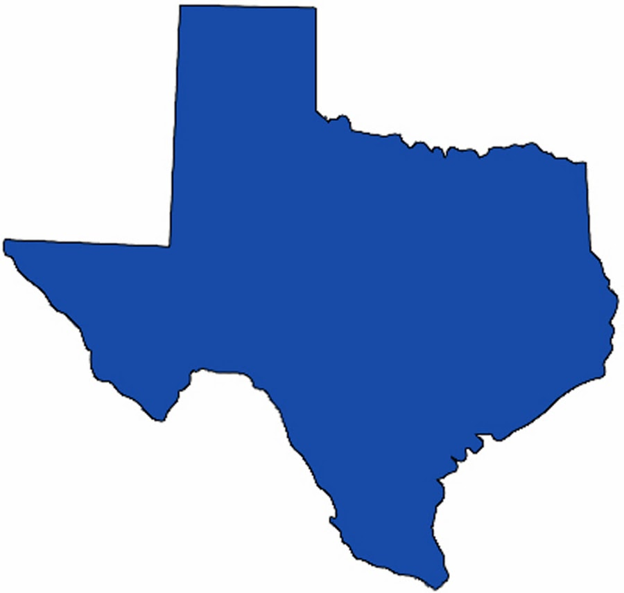 Texas State Clipart - medium Pictures | Texas Map with Cities and ...