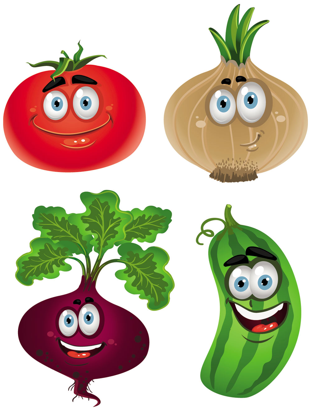 Cartoon Vegetables Cliparts Co