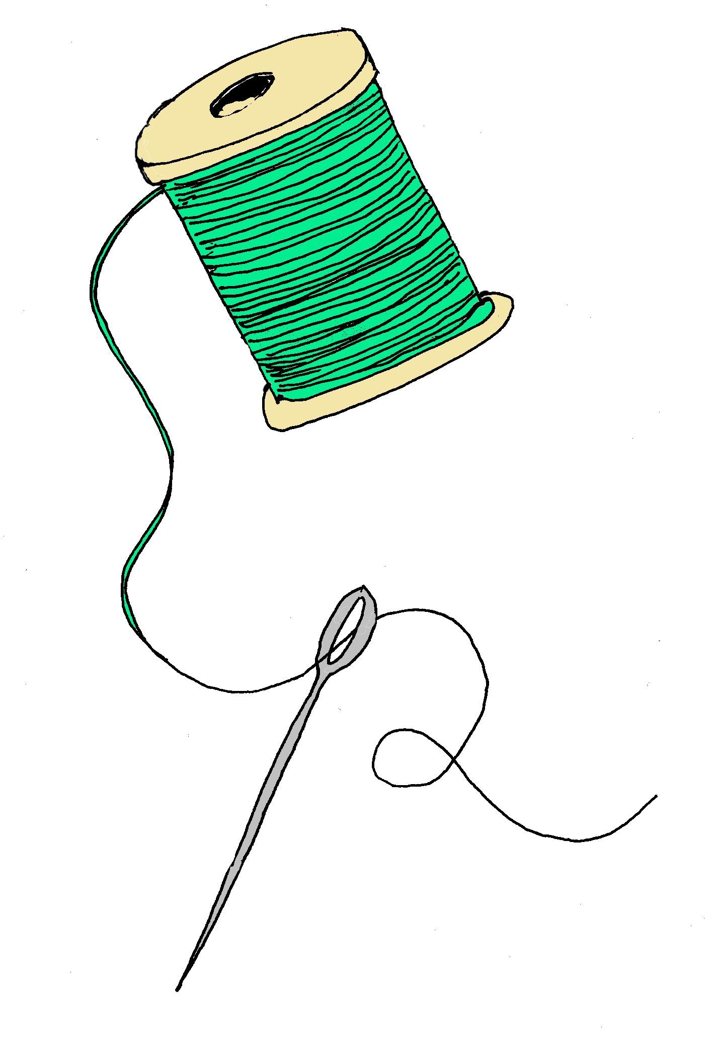 Sewing needle clip art cliparts