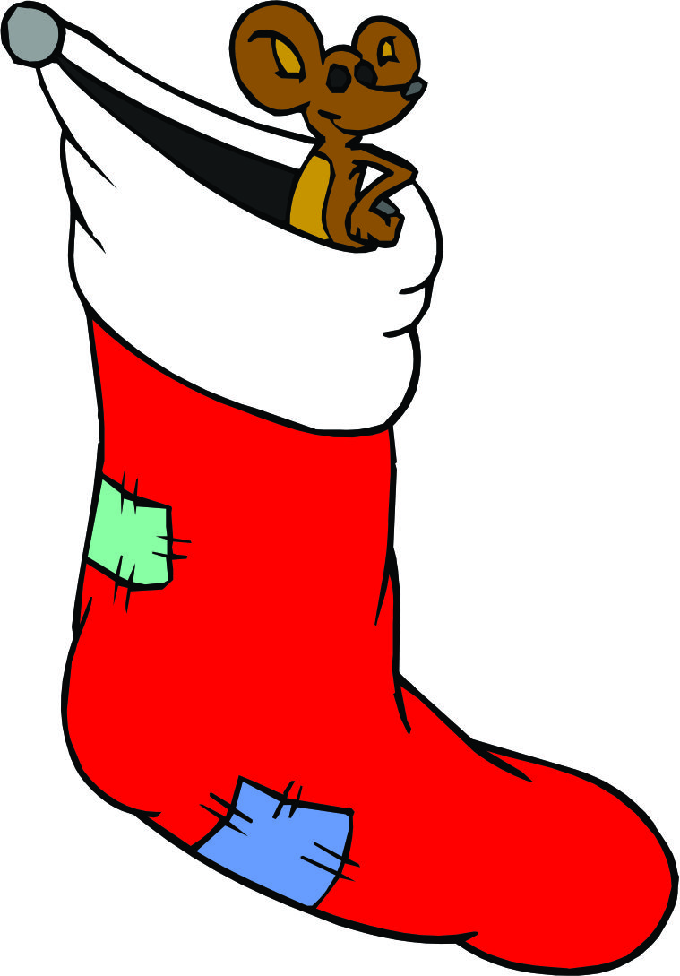 Cartoon Christmas Stocking - Cliparts.co