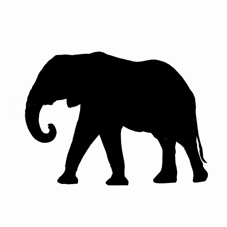 clipart elephant outline - photo #15