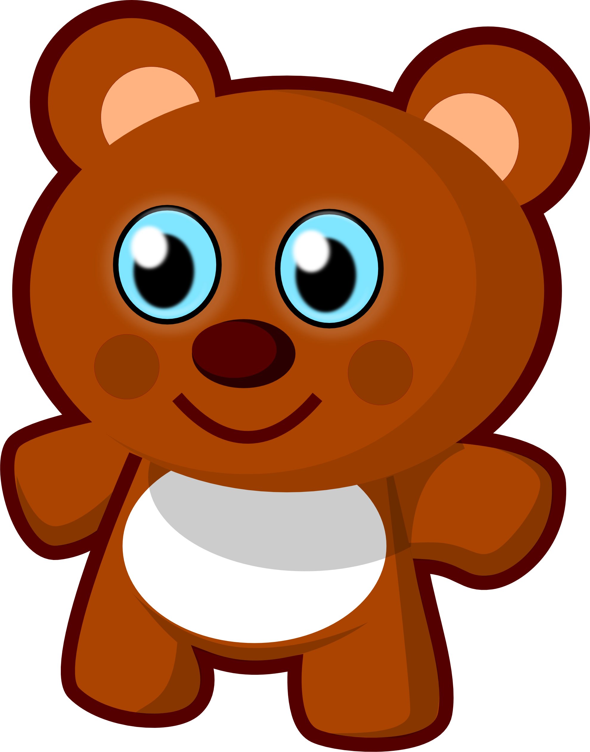 Teddy Bear Vector - ClipArt Best