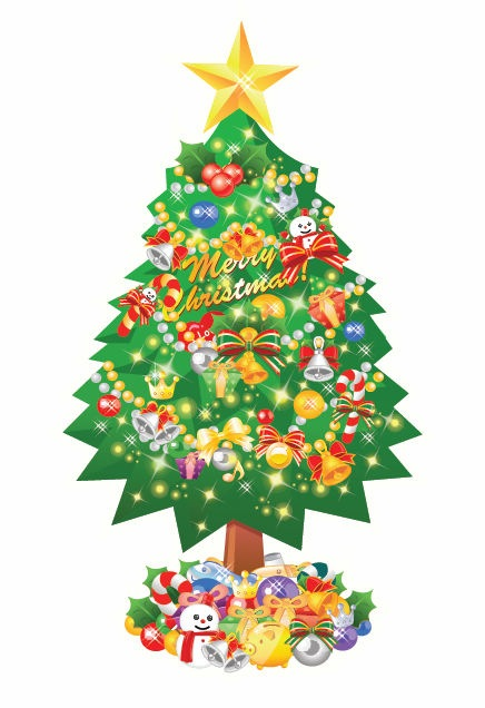 Graphic Christmas Tree - Cliparts.co