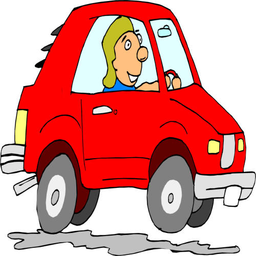 clipart car driving on road - photo #27