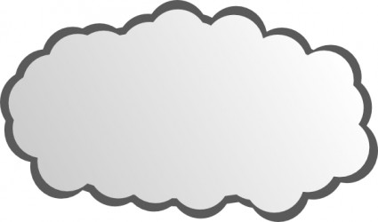 Cloud Outline Clipart | Game Arts Work