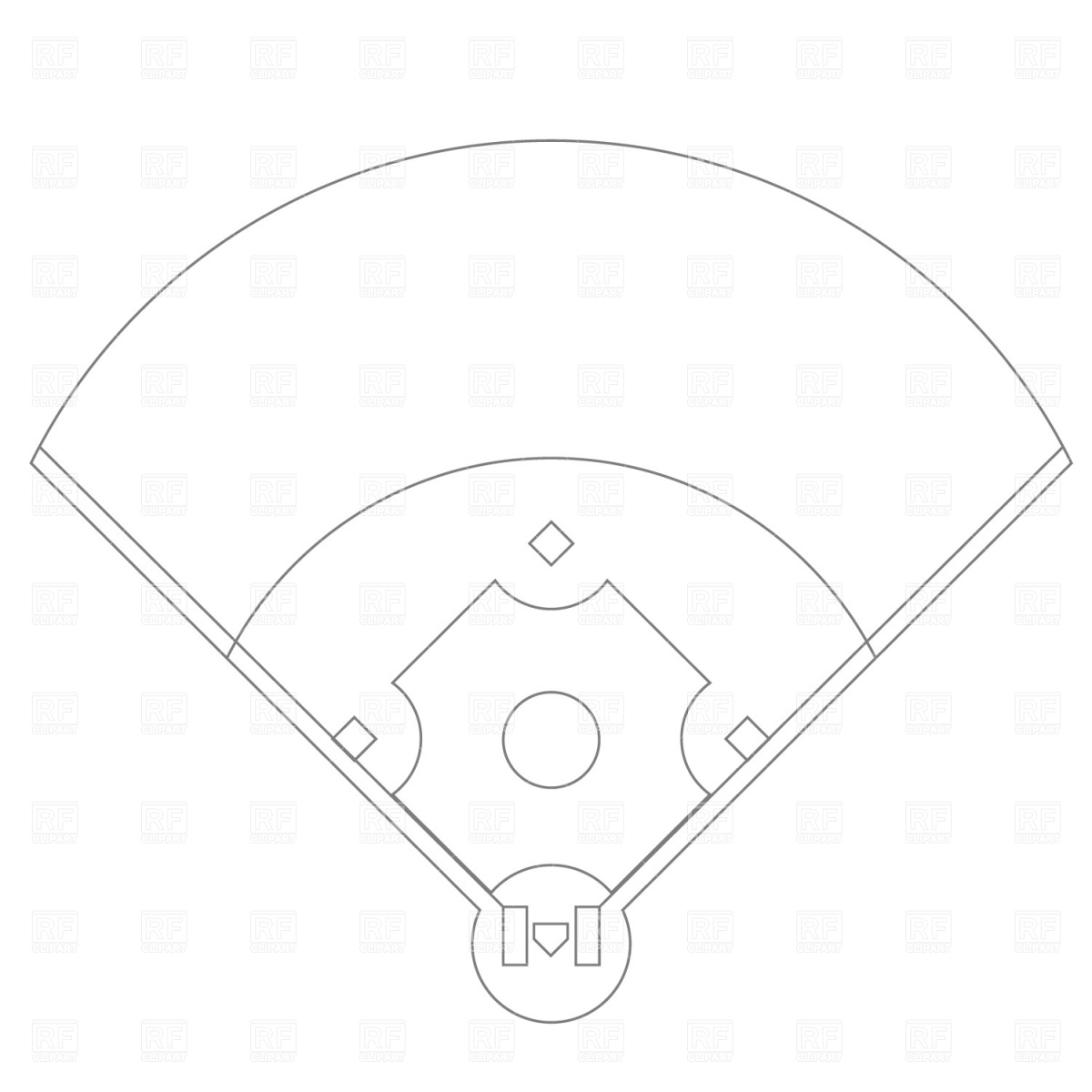 Baseball field plan drawing, Sport and Leisure, download free ...