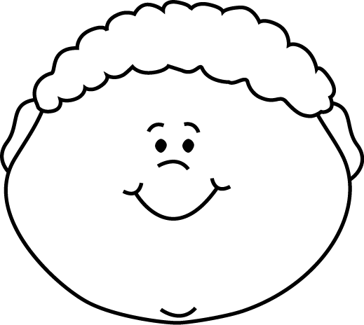 Black and White Little Boy Happy Face Clip Art - Black and White ...