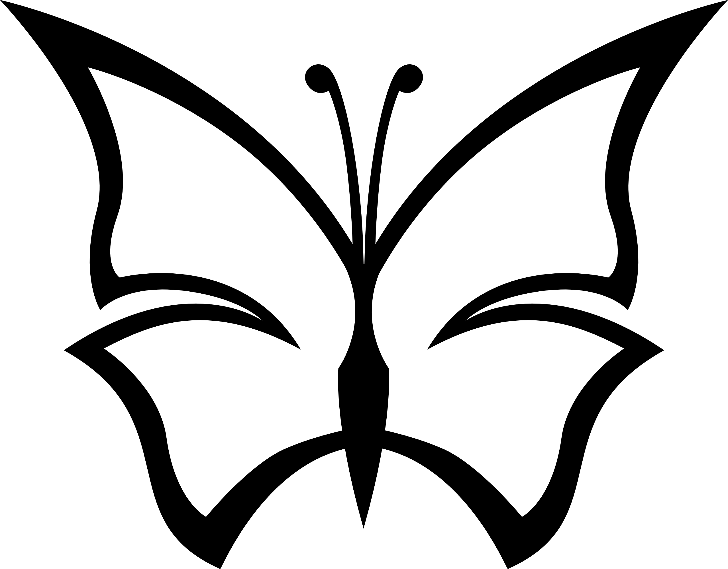 lemmling Abstract butterfly 1 black white line art ... - ClipArt ...