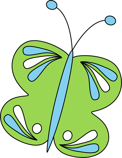Large Green Butterfly Clip Art - Large Green Butterfly Image