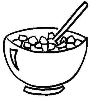 bowl of cereal coloring pages - photo#7