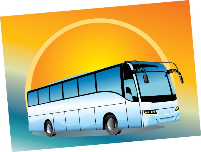 Tour bus clipart