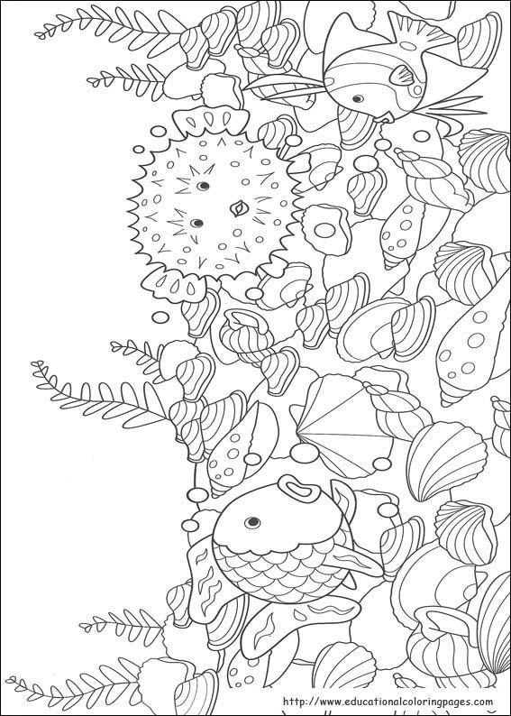 Rainbow Fish Printables August Preschool Themes Child Care 276602 ...   794x567