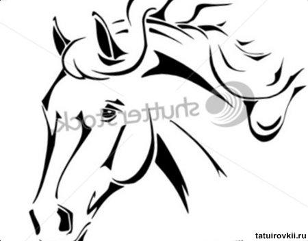 horse head tatoo clipartsco